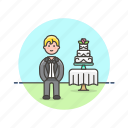 cake, celebration, dessert, groom, party, romance, spouse, wedding icon