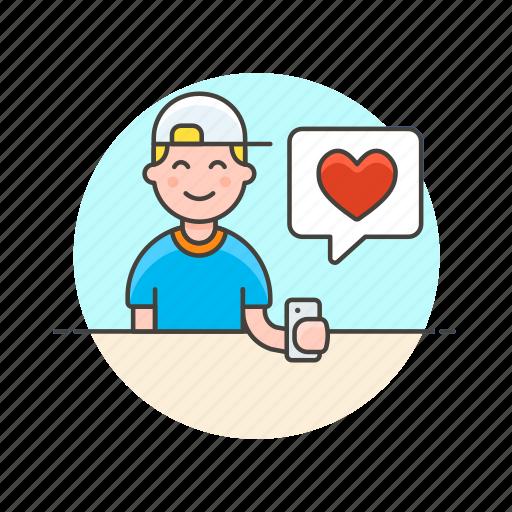 avatar, heart, love, message, romance, sms, text, valentine icon