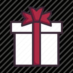 anniversary, birthday, bow, christmas, gift, present, valentines day icon