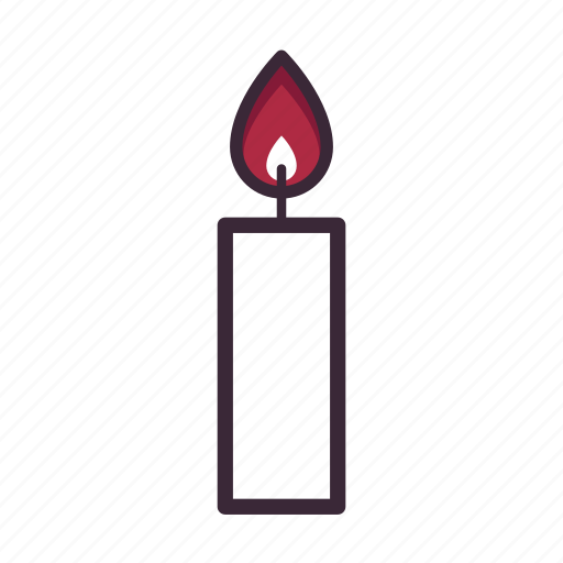 candle, candle light, dinner, flame, flicker, romance, wedding icon