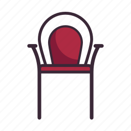 bistro, chair, dinner, restaurant, seat, table, theater icon