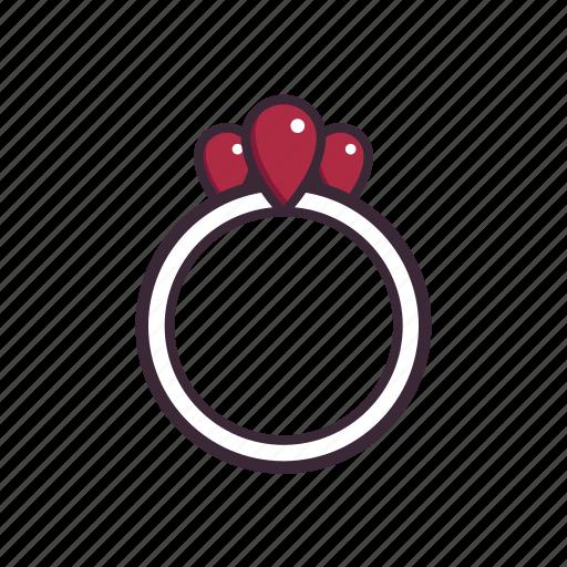 anniversary, diamond, jewelry, proposal, ring, ruby, wedding icon