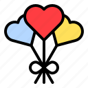 balloon, heart, love, romance, romantic, valentine icon