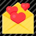 heart, letter, love, mail, romance, romantic, valentine icon