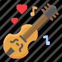 guitar, heart, instrument, love, music, romance, romantic icon