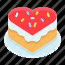 cake, heart, love, romance, romantic, sweets, valentine icon