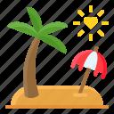 heart, honeymoon, island, love, romance, romantic, valentine icon