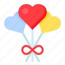 balloon, heart, love, romance, romantic, valentine icon