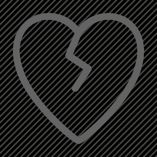 Brokenheart, heart, love, breakup icon - Download on Iconfinder