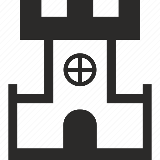 building, castle, fort, roof icon