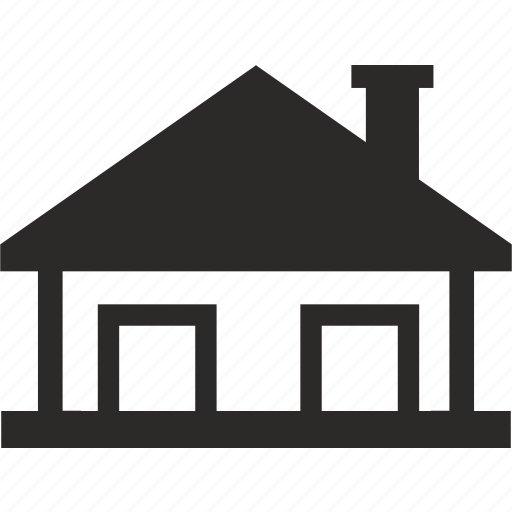 american, architecture, house, roof icon