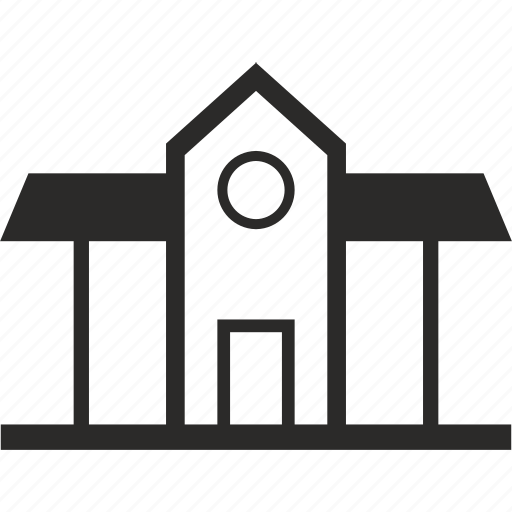 building, classic, house, roof icon