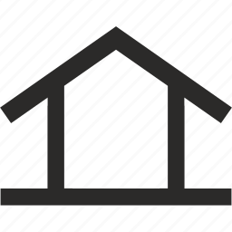 building, construction, house, roof, triangle icon