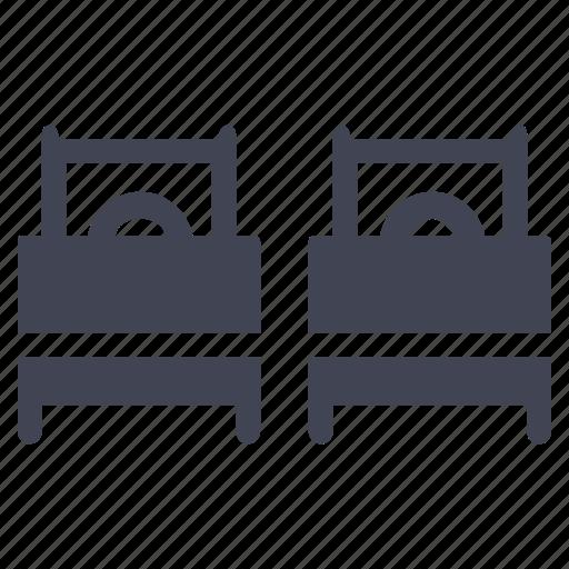 bed, bedroom, double, facilities, room icon
