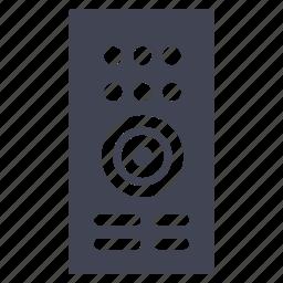 control, device, facilities, remote, room, television icon