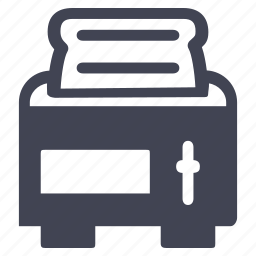 appliance, facilities, kitchen, room, toaster icon