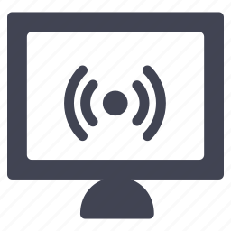 computer, device, screen, technology, wifi, wireless icon