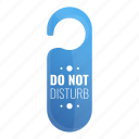 business, disturb, do, door, not, tag icon