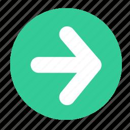 arrow, arrow right, next, right icon