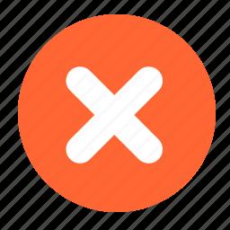cancel, close, cross, delete, exit icon