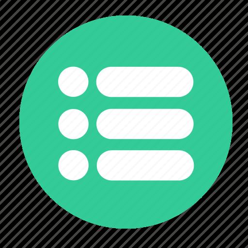Bullet, list, menu icon - Download on Iconfinder