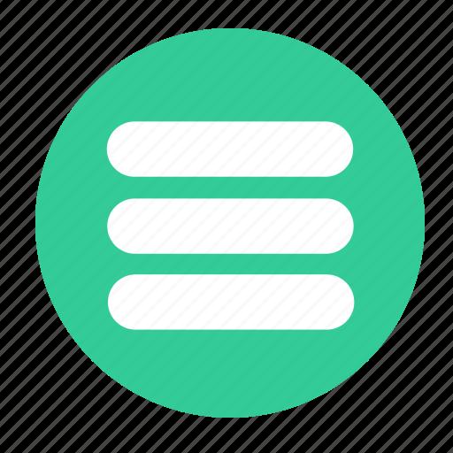 list, menu, more, stack icon