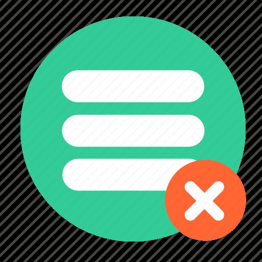 delete, list, menu, stack icon