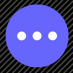list, menu, more, round icon