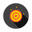 arrow, bullseye, marketing, seo, target icon