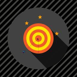 arrow, bullseye, marketing, seo, target icon