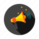 advertisement, announcement, bullhorn, megaphone, message icon