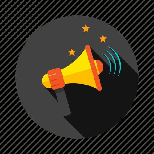 advertisement, announcement, bullhorn, megaphone, message icon