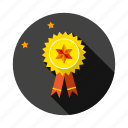 award, badge, ribbon, star, success, winner icon