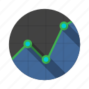 barchart, chart, diagram, graph, graphic, scale, triangular icon