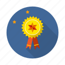 achievement, badge, goal, mission, prize, vision, win icon