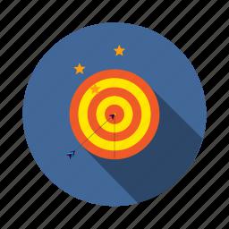 achievement, arrow, dart, dartboard, goal, mission, vision icon