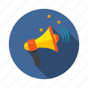 announcement, bullhorn, megaphone, mission, voice icon