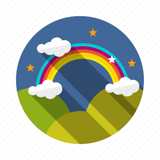 nature, rainbow, sky, vision icon