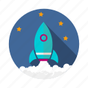 achievement, goal, growth, mission, profit, rocket, vision icon