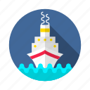 boat, craft, cruz, marine, ship, stimmer, titanic icon