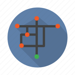 map, mulitiroute, multipoint, path, point, route, singlepoint icon