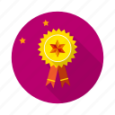 achivements, badge, goal, gold, medal, mission, reward icon