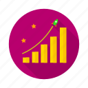 achivements, chart, goal, graph, missile, mission, scale icon