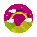 arc, bandofcolor, curve, rainbow icon
