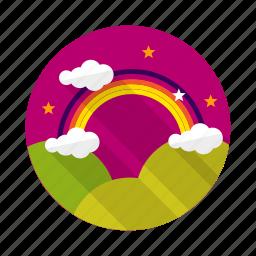 arc, bandofcolor, curve, rainbow icon