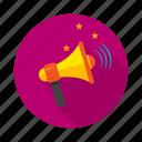voice, ringing, louder, roaring icon