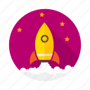 achivements, firework, goal, missile, mission, rocket, spaceship icon