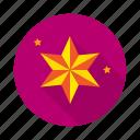 achivements, badges, goal, laurel, mission, reward, star icon