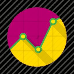 barchart, chart, diagram, graph, graphic, scale, triangular icon