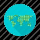 earth, globe, map, world icon